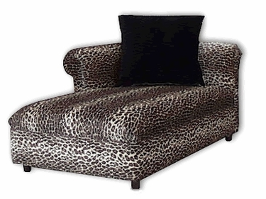 Funk chaise for Animal print chaise lounge