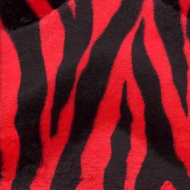Red Zebra Print Fabric cut by the yard