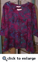Eagle Ray Traders Kim's Tunic in Spiced Wine Rayon-size small only