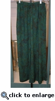 Eagle Ray Traders Palazzo Pants in Velvet Moss Rayon
