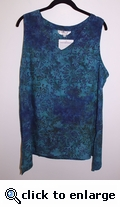 Eagle Ray Traders Sleeveless Kim's Tunic in Gypsy Flowers rayon S-M