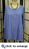 Prairie Cotton Relax A-line 3/4 Sleeve Tunic in Freshwater