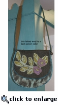 Rising Tide Felted Saddle Bag 515gr
