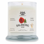 Balancing Rose Aromatherapy Deodorizing Soy Candle For Pets
