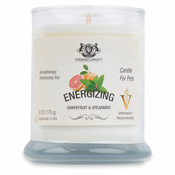 Energizing Grapefruit & Spearmint Aromatherapy Deodorizing Soy Candle For Pets