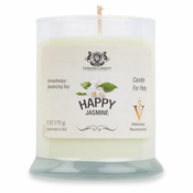 Happy Jasmine Aromatherapy Deodorizing Soy Candle For Pets