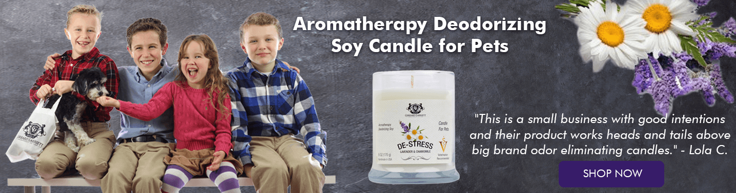 Aromatherapy Deodorizing Candle for Pets