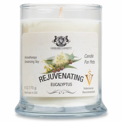 Rejuvenating Eucalyptus Aromatherapy Deodorizing Soy Candle For Pets