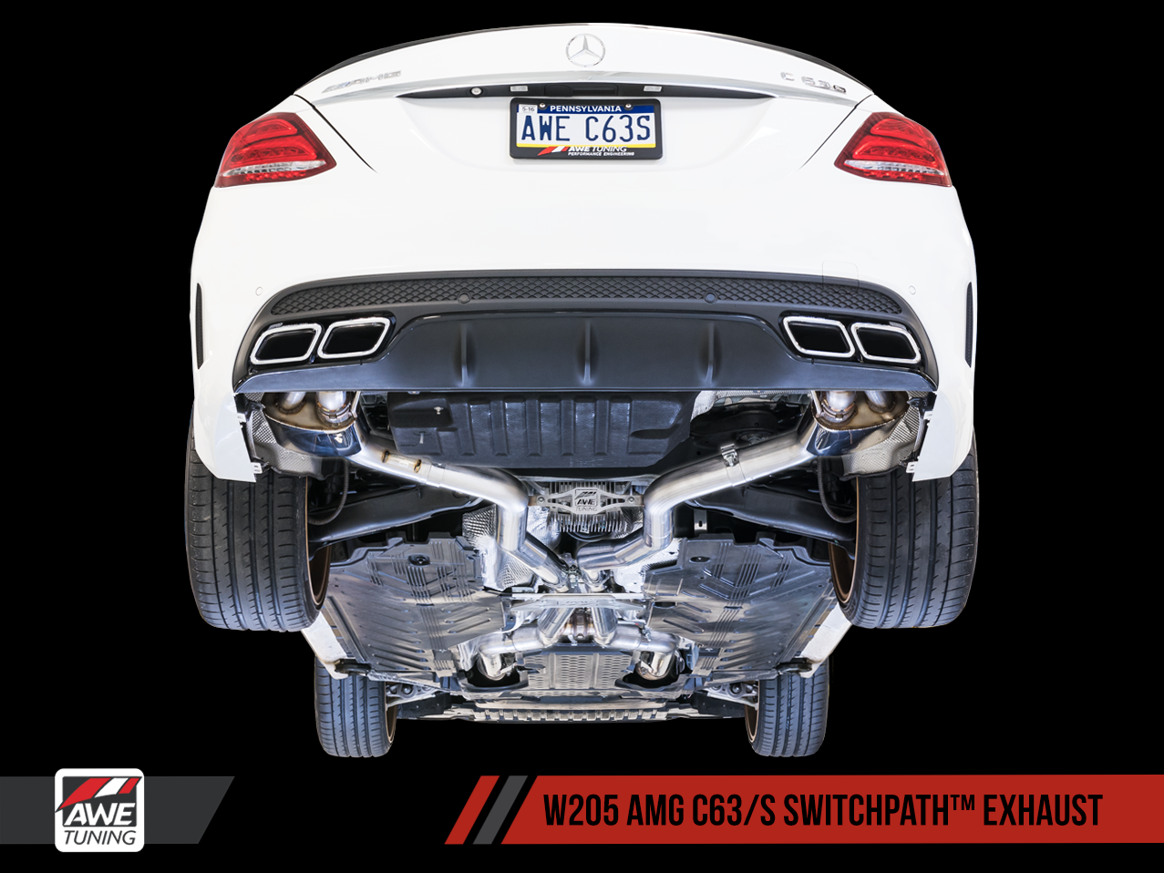 Awe tuning mercedes benz w205 c63 amg exhaust for Mercedes benz performance exhaust