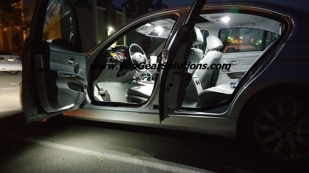 Led interior lights with saddle brown leather - Bmw e90 interior ...