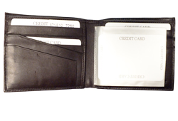 Billfold W/10 Credit Card Slots<br/><b>Colors - Black & Brown</b>