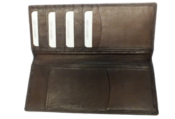 Checkbook & Credit Card Holder<br/><b>Colors - Black & Brown</b>
