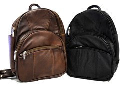 Large Backpack W/ Multiple Storage <br/> <b> Colors - Brown & Black </b><br/>ITEM# bp3303