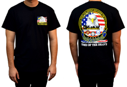 Men's 5 Branches of the Military Shirt<br/><b>Available in Black</b><br/>ITEM # CS1002