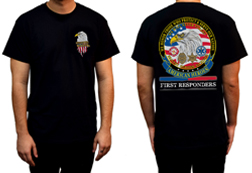 Men's American Heroes - First Responders Shirt<br/><b>Available in Black</b><br/>ITEM # CS1032