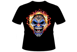 Men's Demon Clown Shirt<br/> <b>Color - Black & Orange</b><br/>ITEM# mendemonclown