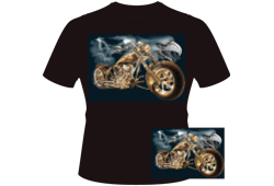 Men's Eagle Chopper Shirt<br/> <b>Color - Black </b>