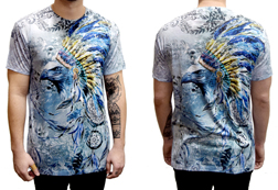 Men's Eagle Headdress American Made T-Shirt<br/>ITEM # 6484