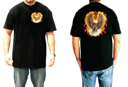 Men's Eagle In Flames Shirt<br/> <b>Color - Black </b>