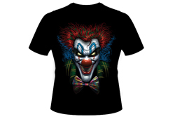 Men's Evil Clown Shirt<br/> <b>Color - Black</b><br/>ITEM# men19421D0