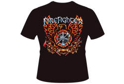 Men's Firefighter Eagle Shirt<br/> <b>Color - Black </b><br/>ITEM# men13018