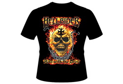 Men's Hellrider Shirt<br/> <b>Color - Black & Orange</b><br/>ITEM# men12652