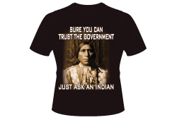 Men's Just Ask An Indian Shirt<br/> <b>Color - Black </b><br/>ITEM# men15916