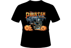 Men's Phantom Rider Shirt<br/> <b>Color - Black & Orange</b><br/>ITEM# men12437