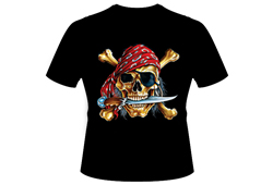 Men's Pirate Shirt<br/> <b>Color - Black </b>