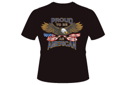 Men's Proud to Be an American Shirt<br/> <b>Color - Black </b><br/>ITEM# men9622