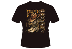 Men's Pure Cowboy Shirt<br/> <b>Color - Black </b><br/>ITEM# men15182