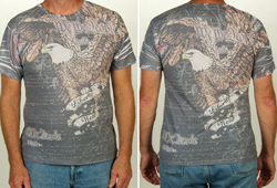 Men's Short Sleeve Constitution Shirt<br/> <b> Color - Grey</b>