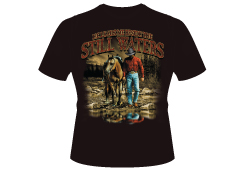 Men's Still Waters Shirt<br/> <b>Color - Black </b><br/>ITEM# men10057