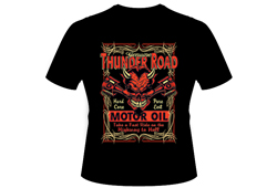 Men's Thunder Road Shirt<br/> <b>Color - Black & Orange</b><br/>ITEM# men15001