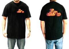 Men's USA Made Flame Biker Shirt<br/><b>Color- Black</b>