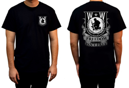 Men's Wounded Warrior - Freedom Isn't Free Shirt<br/><b>Available in Black</b><br/>ITEM # CS1022