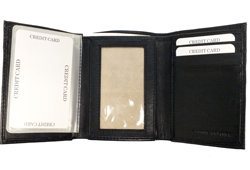 Tri-Fold Wallet With 2 Bill Pockets<br/><b>Colors - Black & Brown</b>
