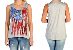 Women's American Spirit Tank Top<br/><b>Available in Heather</b><br/>ITEM # 7580