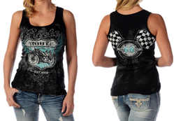 Women's Bikin' Route 66 Tank Top<br/><b>Available in Black</b><br/>ITEM # 7553