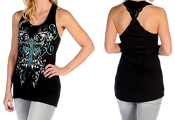 Women's Bold Celtic Cross Tank Top<br/><b>Available in Black</b><br/>ITEM # 7661