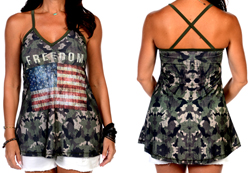 Women's Camo Freedom Halter Top<br/><b>Available in Camo</b><br/>ITEM # 7531