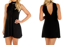 Women's Edgy Elegance Designer Tank Dress<br/><b>Available in Black</b><br/>ITEM # 7562