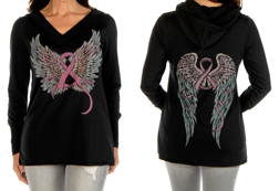 Women's Faith, Hope, Fearless Hoodie<br/><b>Available in Black</b><br/>ITEM # 8250
