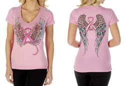 Women's Faith, Hope, Fearless Loose Fit Short Sleeve Top<br/><b>Available in Pink</b><br/>ITEM # 7032