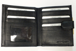Women's French Wallet With I.D. Slot & Coin Purse<br/><b>Colors - Black & Brown</b>