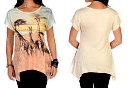 Women's Giraffes on the Savannah Sharktail<br/>ITEM # 7979