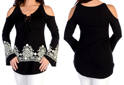 Women's Hearts on Fire Tunic<br/><b>Available in Black</b><br/>ITEM # 7651