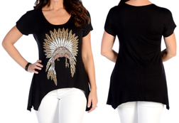 Women's Indian Chief Mini Sharktail<br/><b>Available in Black & Burgundy</b><br/>ITEM # 7966