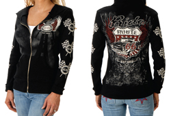 Women's Kicks on 66 Hoddie<br/><b>Available in Black</b><br/>ITEM# 8054