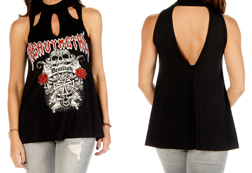 Women's Matter of Devilish Tank Top<br/><b>Available in Black</b><br/>ITEM # 7221